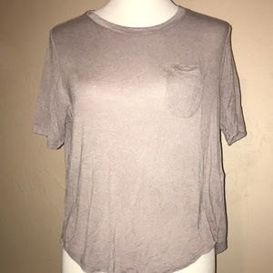 Lavender super soft double pocket T-shirt